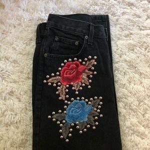 LF Rose Studded Boyfriend Jeans